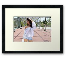 Portrait Of A sexy Woman  Framed Print
