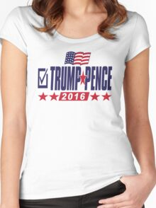 Trump Pence 2016 Women's Fitted Scoop T-Shirt