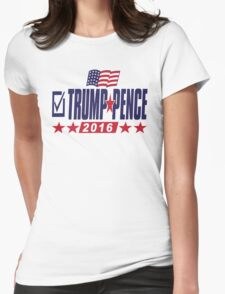 Trump Pence 2016 Womens Fitted T-Shirt