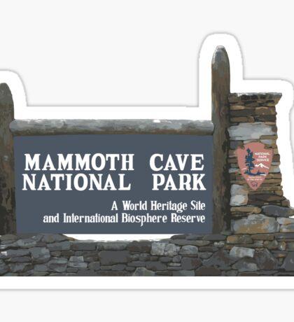 Mammoth Cave National Park Sign, Kentucky, USA Sticker