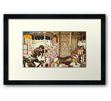 Pregnant woman in carousel Framed Print