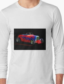 1932 Ford 'Blue Flame' Roadster Long Sleeve T-Shirt