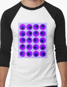 """""""PSYCHEDELIC 3D ABSTRACT"""" Whimsical Print Men's Baseball ¾ T-Shirt"""