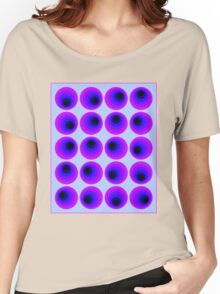"""""""PSYCHEDELIC 3D ABSTRACT"""" Whimsical Print Women's Relaxed Fit T-Shirt"""