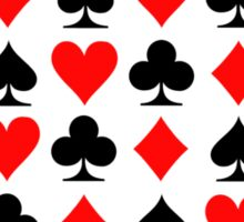 Poker casino gambling Sticker