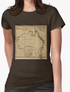 Vintage Map of Australia (1700s) Womens Fitted T-Shirt