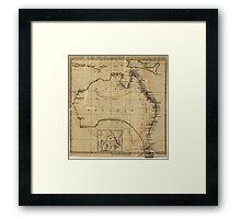 Vintage Map of Australia (1700s) Framed Print