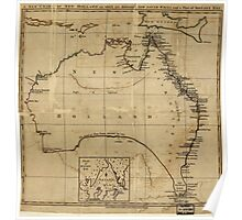 Vintage Map of Australia (1700s) Poster
