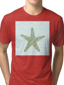 Stella Starfish coastal sea life beach theme Tri-blend T-Shirt
