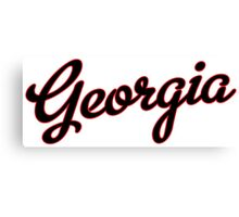 Georgia Script Black Canvas Print