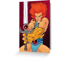 Lion-o - Thundercat Tribute Greeting Card