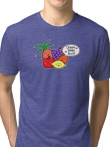 Happy Fruit - two lof bees Tri-blend T-Shirt