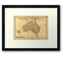 Vintage Map of Australia (1808) Framed Print
