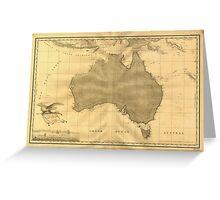 Vintage Map of Australia (1808) Greeting Card