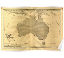 Vintage Map of Australia (1808) Poster