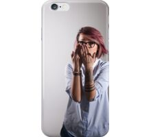 Young cheerful smart woman iPhone Case/Skin
