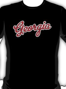 Georgia Script Red VINTAGE T-Shirt