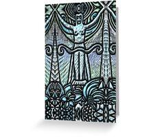 Tarot 2.- The Priestess Greeting Card