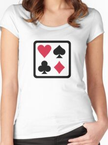 Poker colors Women's Fitted Scoop T-Shirt