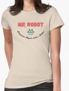 MR ROBOT - COMPUTER REPAIR Womens Fitted T-Shirt