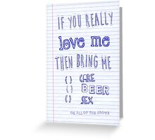 If you love me Greeting Card