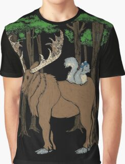 Moose & Squirrell Graphic T-Shirt