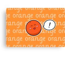 Happy Orange - two lof bees Canvas Print