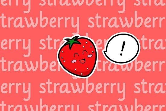 Happy Strawberry - two lof bees by Josh Bush