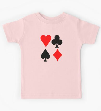 Poker deck colors Kids Tee