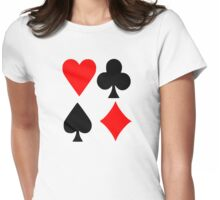 Poker deck colors Womens Fitted T-Shirt