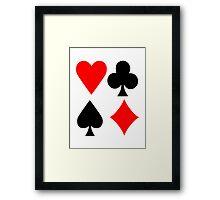 Poker deck colors Framed Print