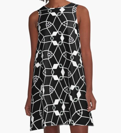 Map Reference 55 A-Line Dress
