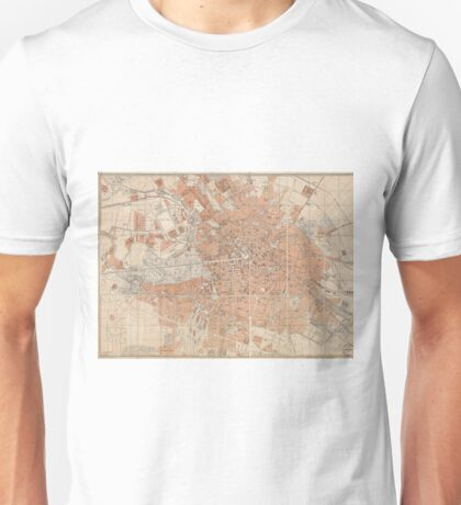 Vintage Map of Berlin Germany (1877) Unisex T-Shirt