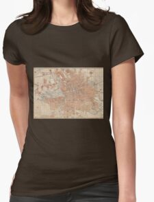 Vintage Map of Berlin Germany (1877) Womens Fitted T-Shirt