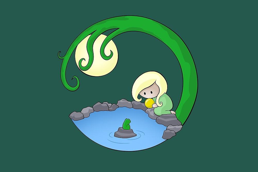 Girl At The Pond by Josh Bush