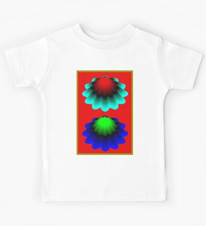 """WHIMSICAL 3D SHELLS"" Abstract Psychedelic Print Kids Tee"