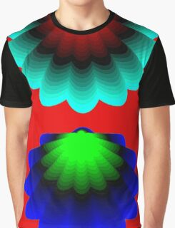 """WHIMSICAL 3D SHELLS"" Abstract Psychedelic Print Graphic T-Shirt"