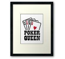 Poker queen Framed Print