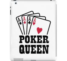 Poker queen iPad Case/Skin