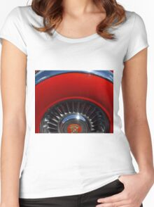 1955 Cadillac Eldorado Continental Kit Women's Fitted Scoop T-Shirt