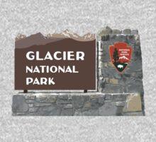 Glacier National Park Sign, Montana, USA One Piece - Short Sleeve