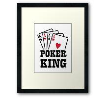 Poker king cards Framed Print