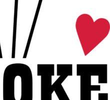 Poker king cards Sticker