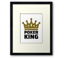 Poker king crown Framed Print