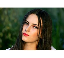 Young woman girl portrait Photographic Print