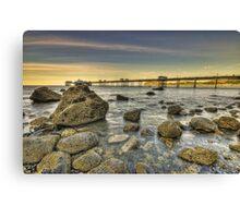 Sunset Pier. Canvas Print
