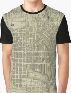 Vintage Map of Baltimore Maryland (1832) Graphic T-Shirt