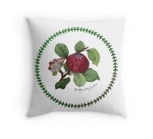 The Hoary Morning Apple Throw Pillow