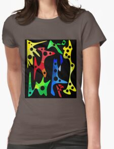 Optimistic abstraction Womens Fitted T-Shirt