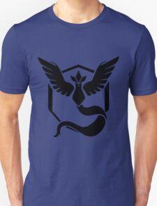 PokemonGo Blue Mystic Team Black Unisex T-Shirt